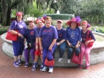 Look what else you can do when you are 50! Travel with the red hats.  This was a fountain in Savannah GA