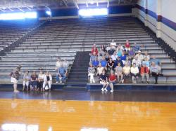 Pics on the Memorial gym bleachers